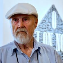 E. Ovčáček na vernisáži výstavy. Foto J. Král